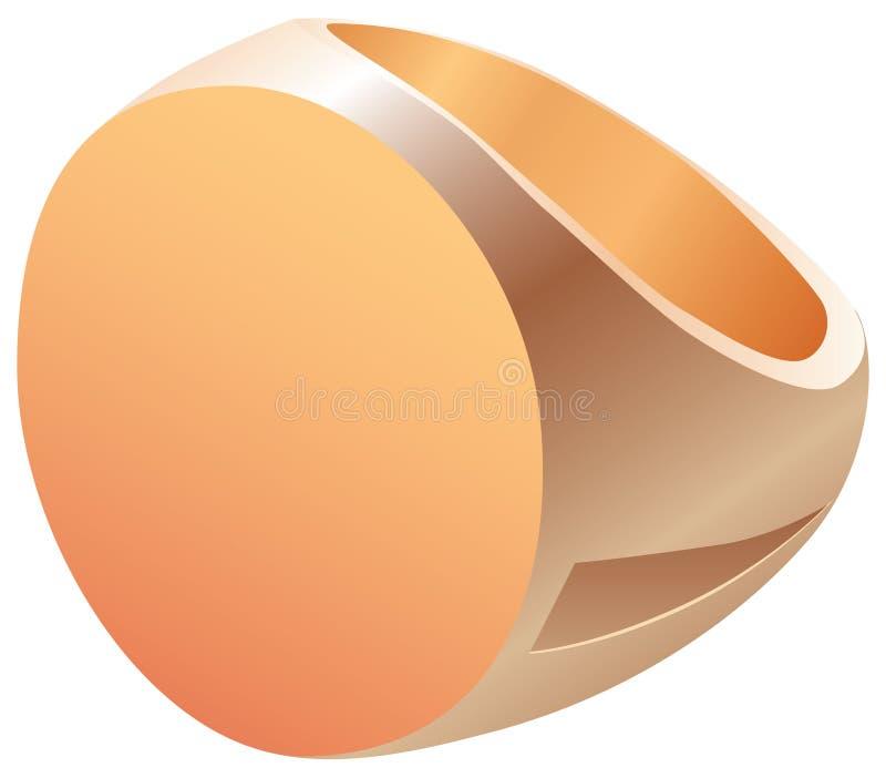 Большое кольцо золота иллюстрация вектора