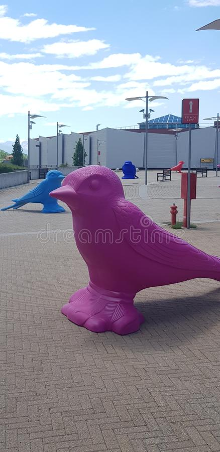 Большое нашествие птиц стоковые изображения rf