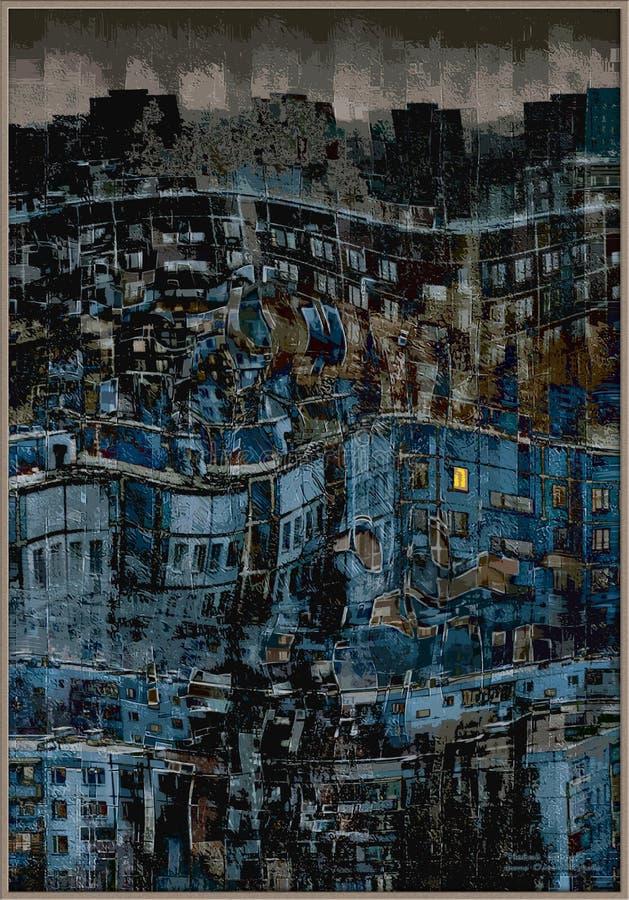 большое одиночество города стоковые изображения rf