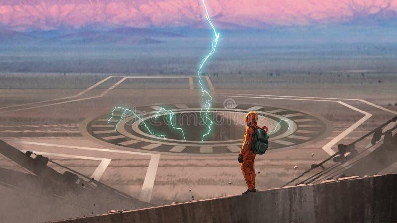 Большое отверстие на планете чужеземца бесплатная иллюстрация