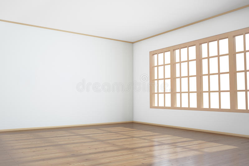 большое пустое окно комнаты стоковое фото