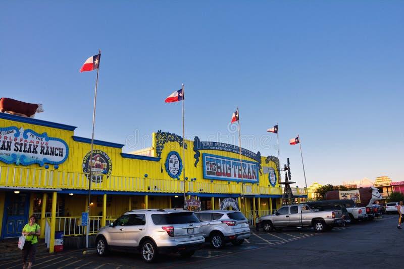 Большое ранчо стейка Texan, известный ресторан стейкхауса стоковые фотографии rf