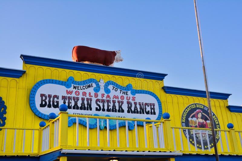 Большое ранчо стейка Texan, известный ресторан стейкхауса стоковое фото