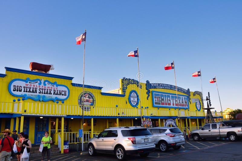 Большое ранчо стейка Texan, известный ресторан стейкхауса стоковые изображения rf