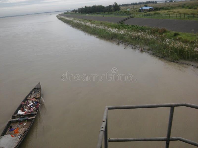 большое река в пятне Бангладеша закрывая стоковые фотографии rf