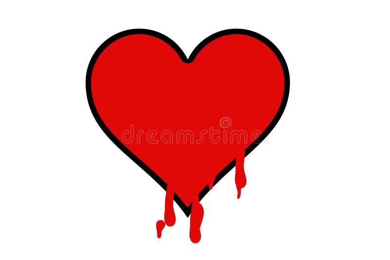 Большое сердце с кровью бесплатная иллюстрация