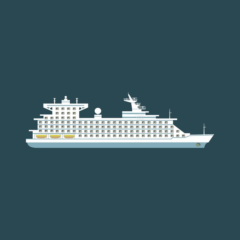 Большое туристическое судно стоковые фотографии rf