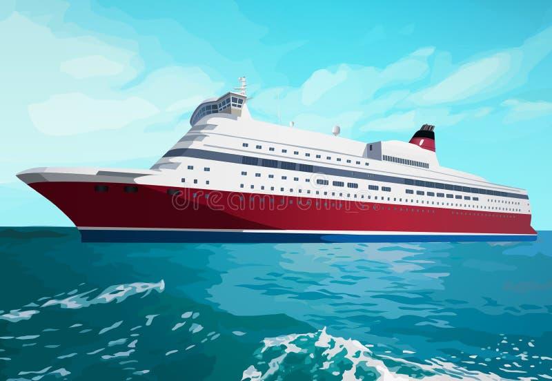 большое туристическое судно бесплатная иллюстрация