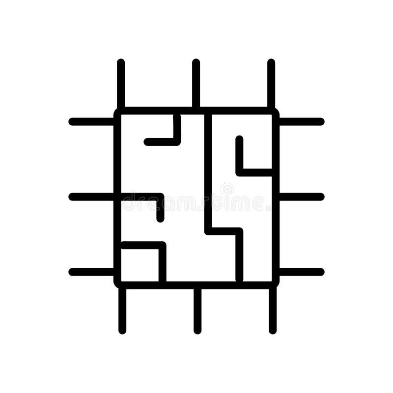 Большой вектор значка обломока изолированный на белой предпосылке, большом знаке обломока иллюстрация вектора