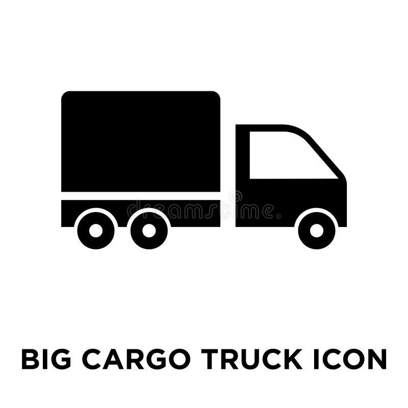 Большой вектор значка тележки груза изолированный на белой предпосылке, логотипе c бесплатная иллюстрация