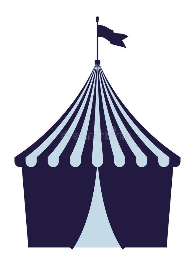 Большой верхний цирк с флагом бесплатная иллюстрация