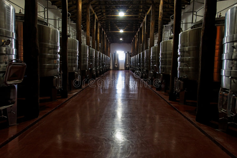 большой винзавод комнаты стоковое фото rf