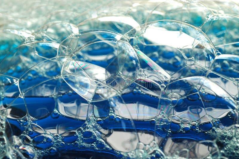 большой голубой пузырь стоковое изображение rf