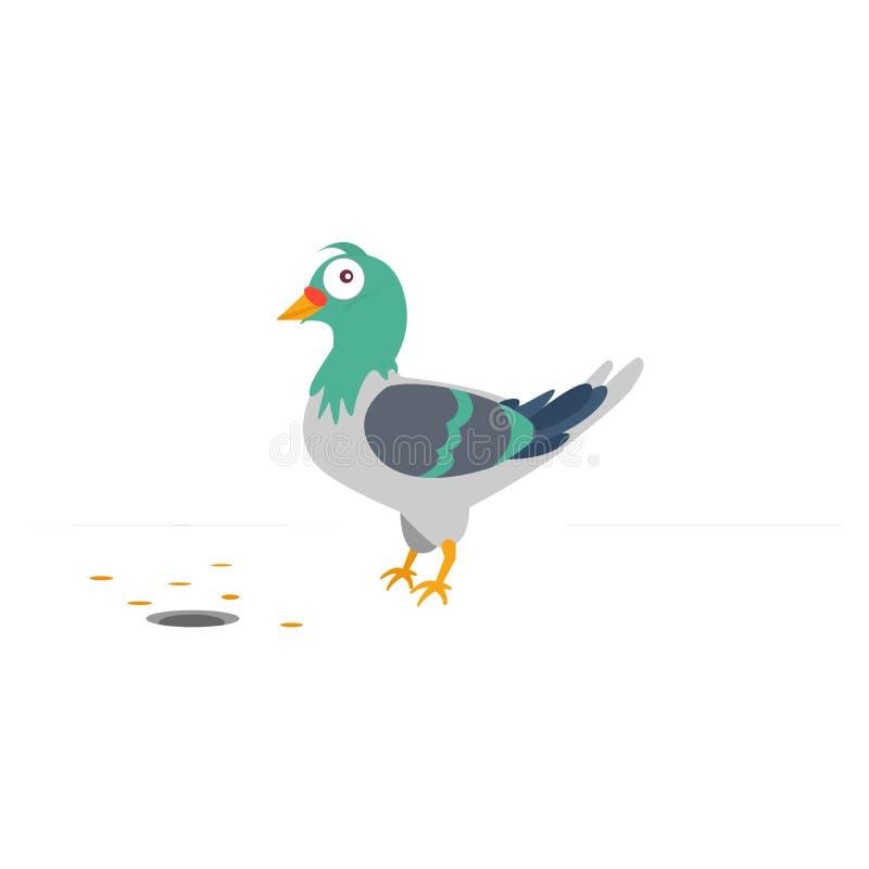 Большой голубь шаржа стоковое изображение rf