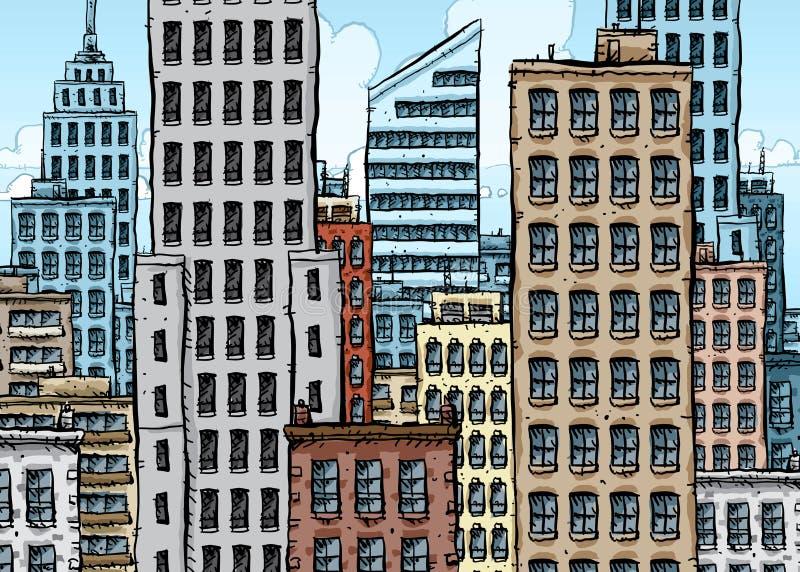 большой город шаржа бесплатная иллюстрация