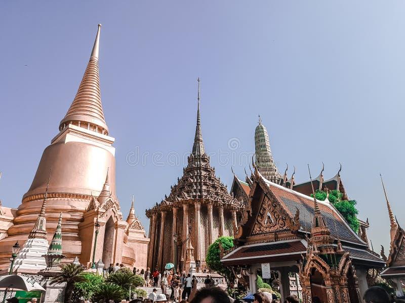 Большой дворец в Бангкоке, Таиланде стоковые изображения