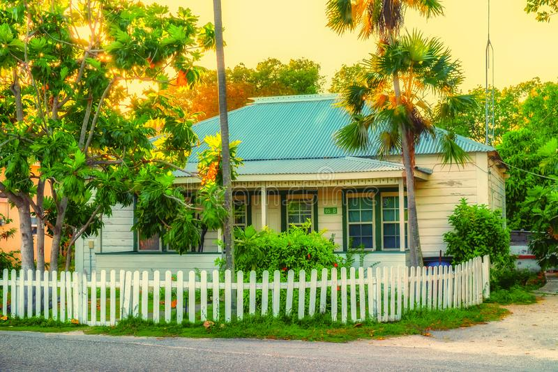 Большой дом залива Кейман-запада стоковые фотографии rf