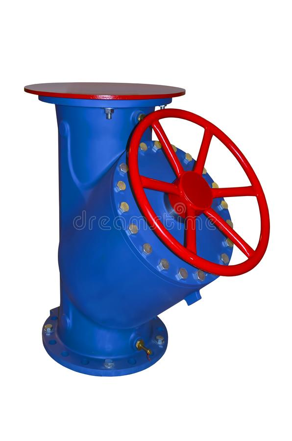 Большой запорный клапан, взгляд со стороны стоковые изображения rf