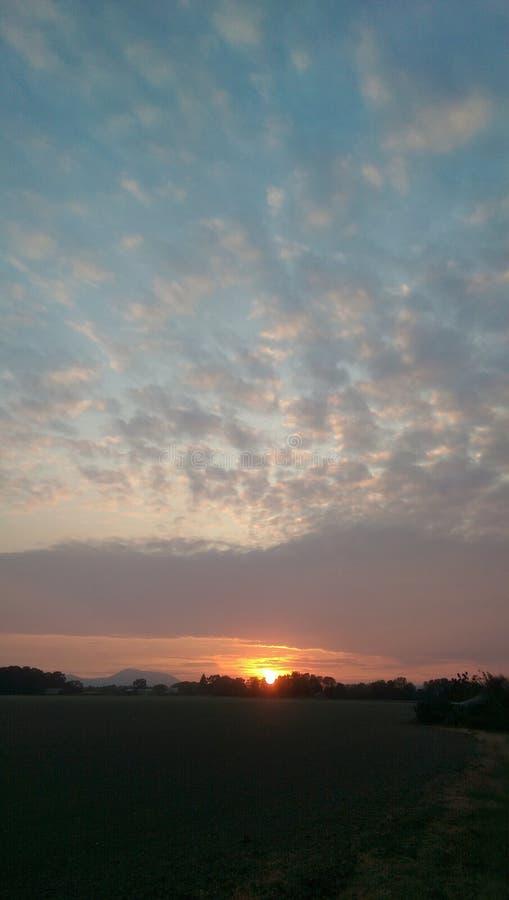 большой заход солнца стоковое фото