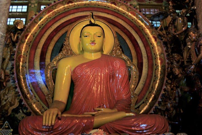 Большой и красивый идол Будды в виске Шри-Ланка стоковое изображение rf
