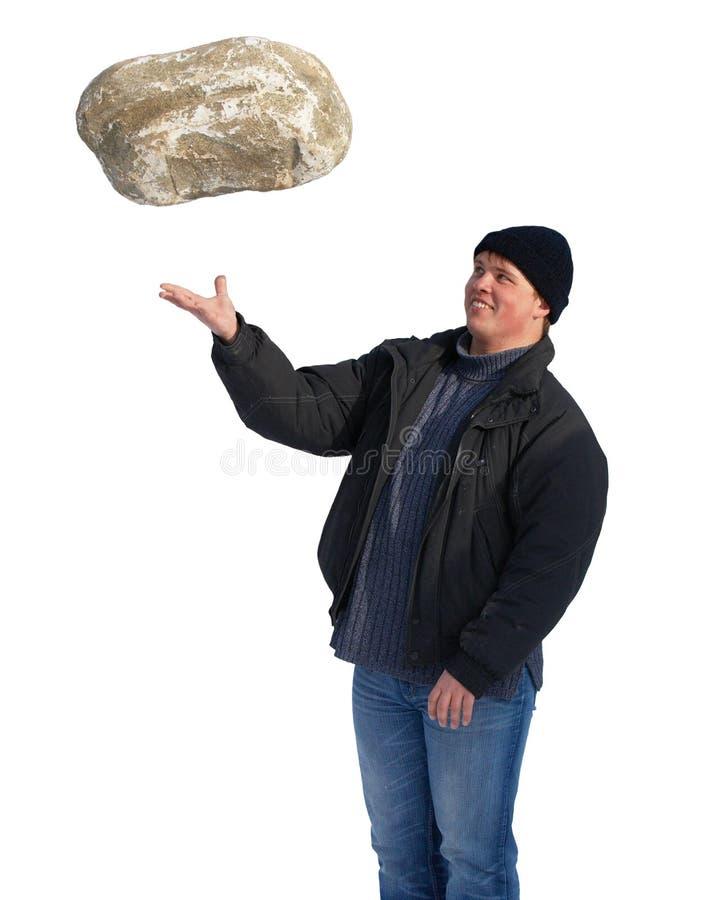 большой камень человека сильный стоковые фото