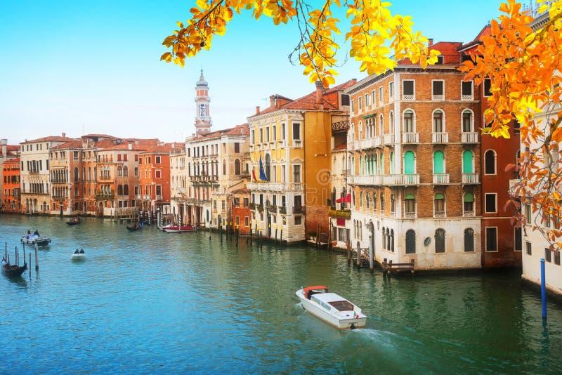 Большой канал, Венеция, Италия стоковое изображение rf