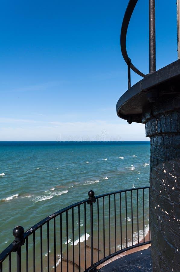 Большой маяк пункта соболя, Ludington Мичиган стоковое фото