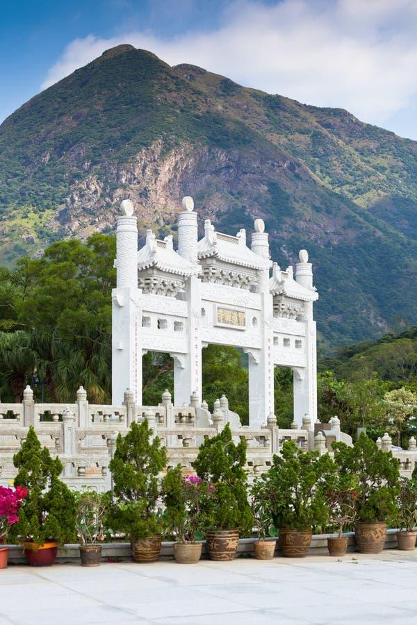 Большой монастырь Будды Po Lin в Гонконге стоковое изображение