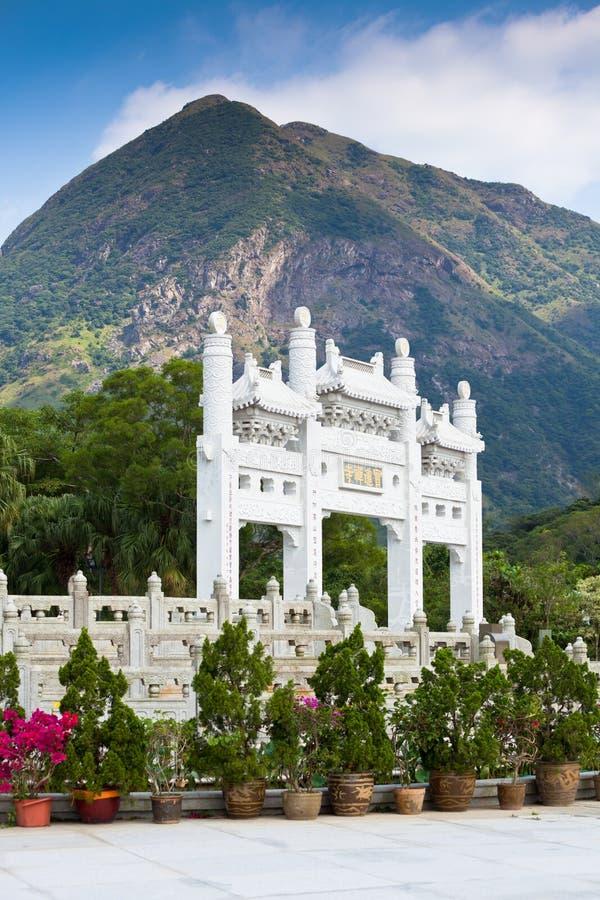 Большой монастырь Будды Po Lin в Гонконге стоковая фотография