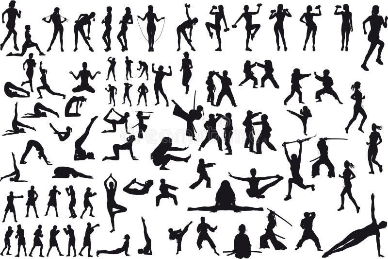Большой набор спорта иллюстрация штока