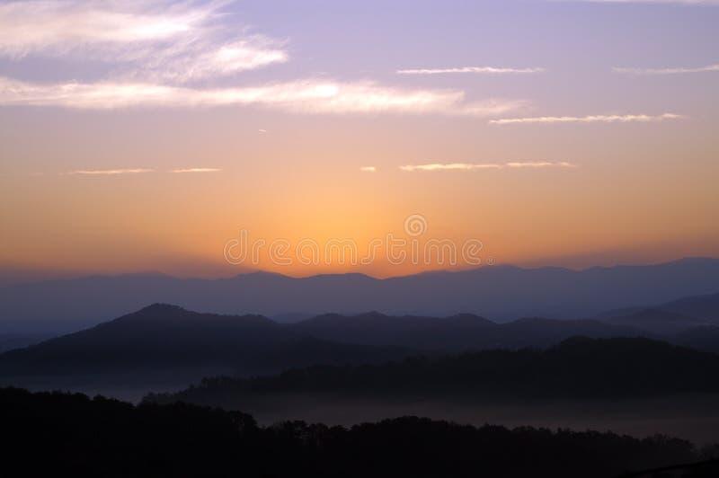 большой национальный парк гор закоптелый стоковое фото