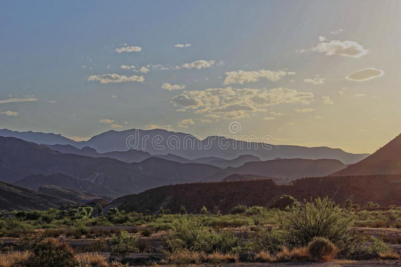 Большой национальный парк загиба - заход солнца стоковое фото