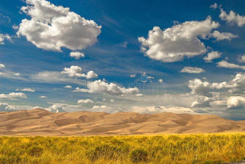 Большой национальный парк песчанных дюн стоковая фотография