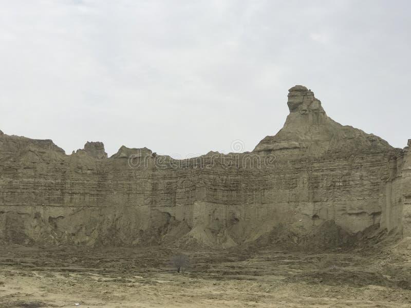 Большой национальный парк Hingol сфинкса около пляжа Kund Malir, Белуджистана стоковая фотография