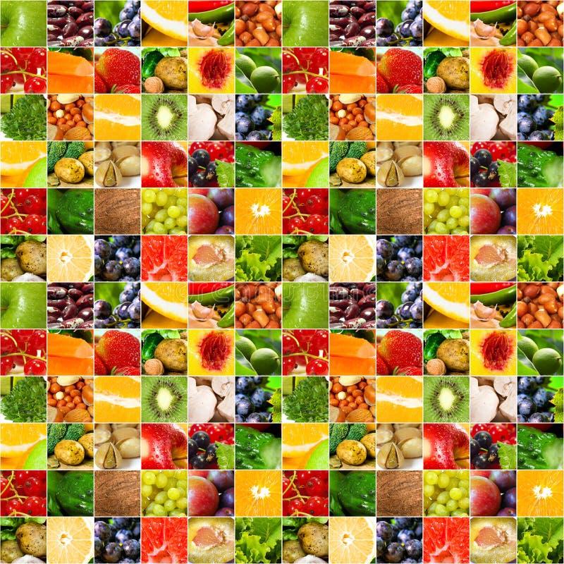 большой овощ плодоовощей коллажа стоковые изображения rf