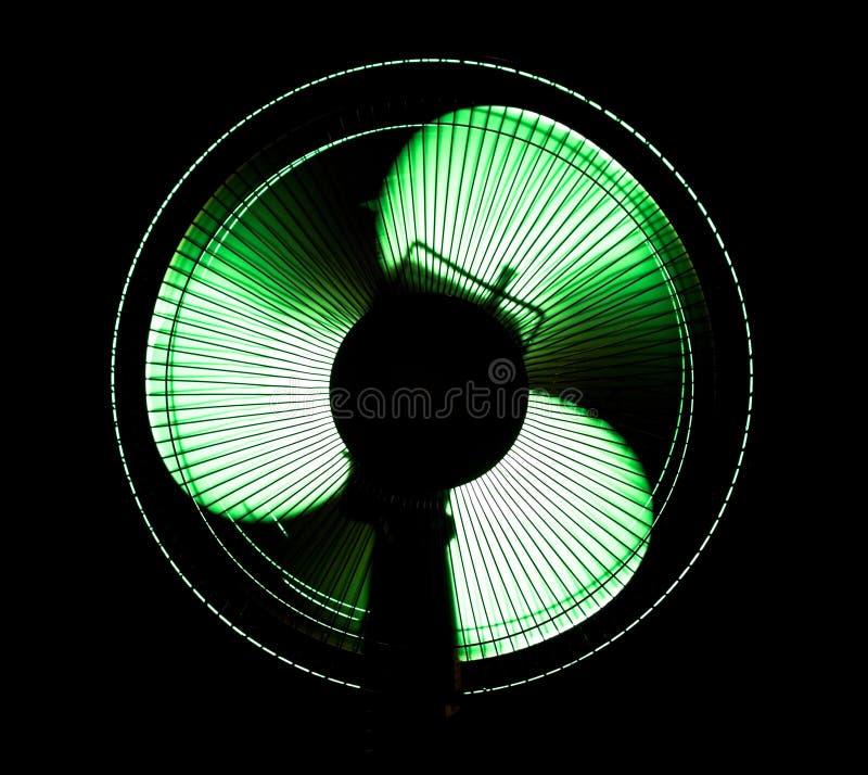 большой офис зеленого света вентилятора стоковое фото