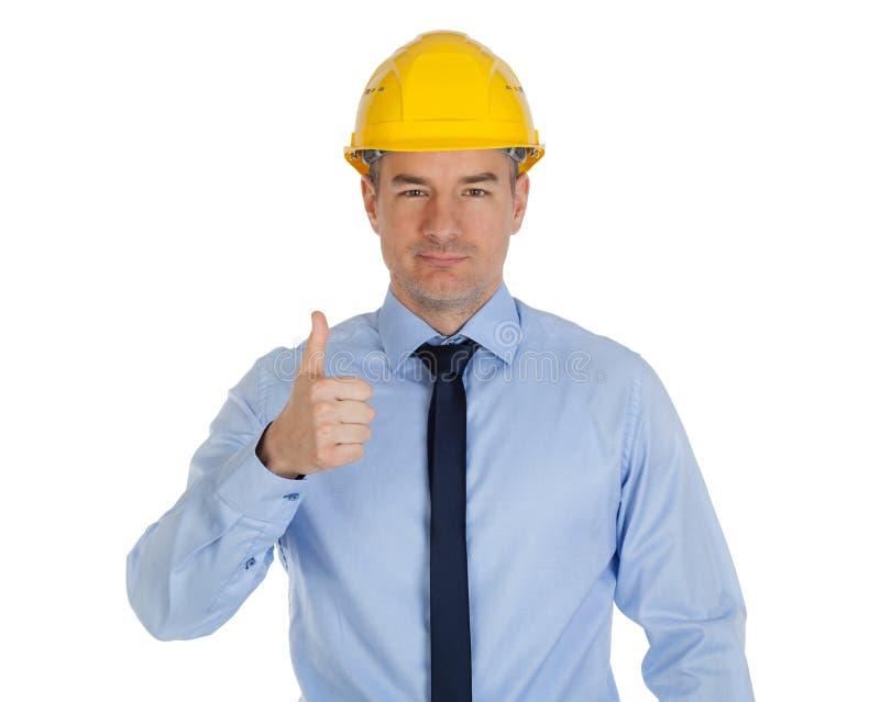 Большой палец руки архитектора вверх стоковые изображения
