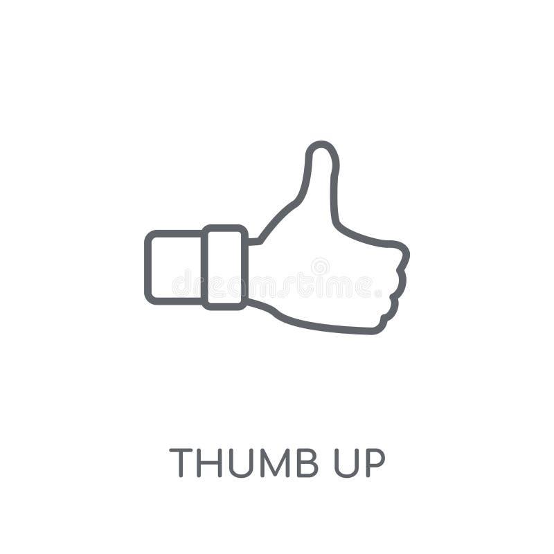 Большой палец руки вверх по линейному значку Современный большой палец руки плана вверх по концепции логотипа на wh бесплатная иллюстрация