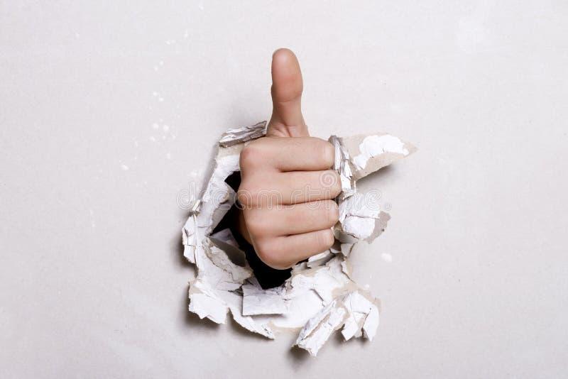 большой пец руки вверх стоковая фотография