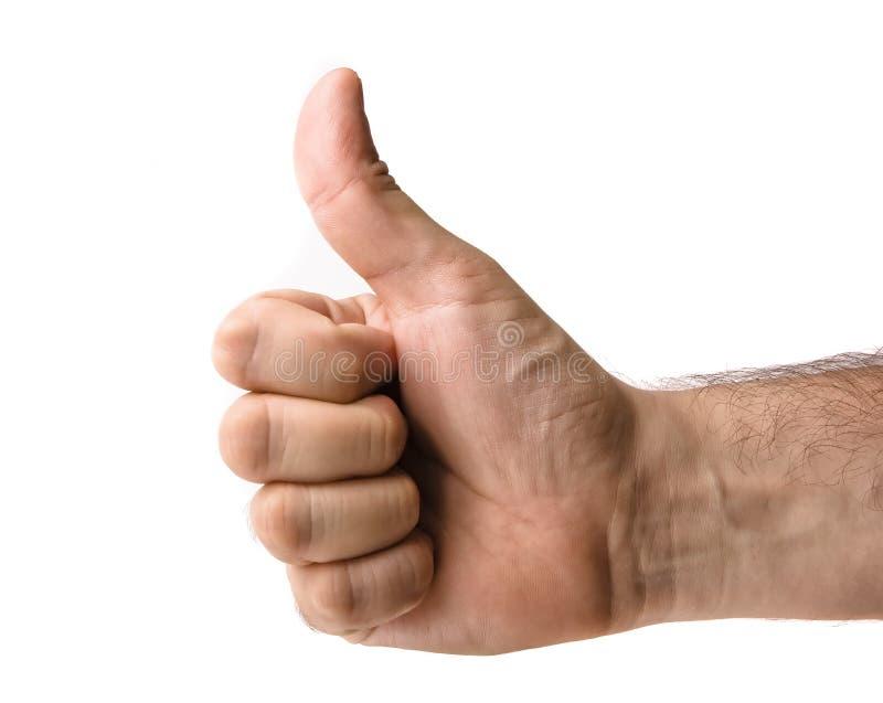 большой пец руки жеста вверх стоковое фото rf