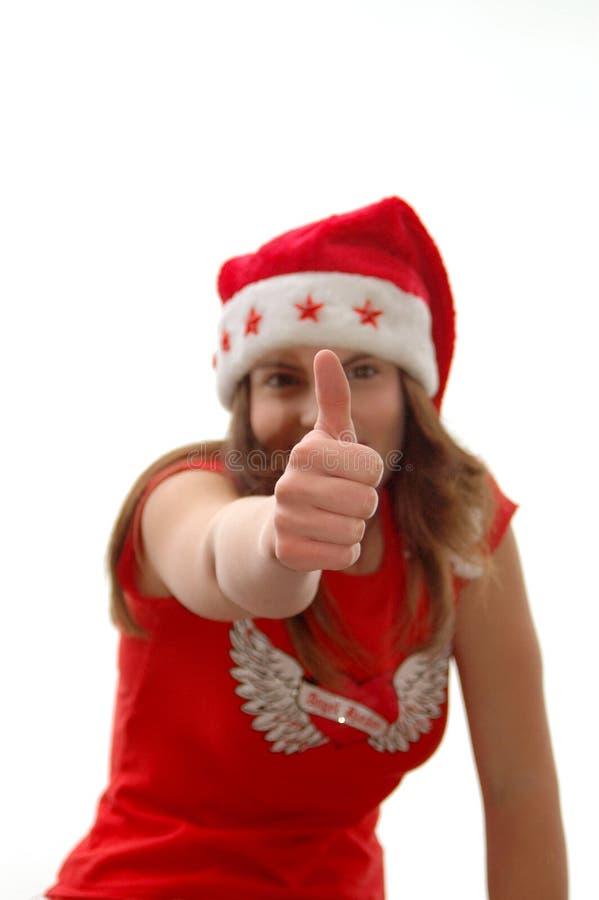 большой пец руки рождества вверх стоковое изображение rf