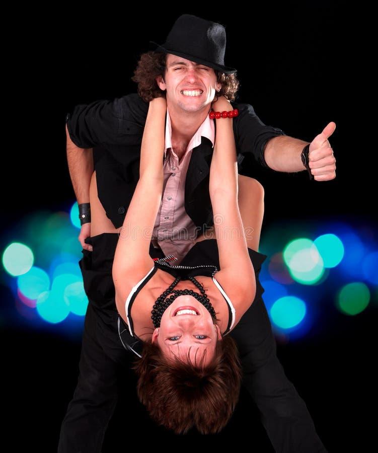 большой пец руки спорта человека девушки танцульки пар вверх стоковая фотография