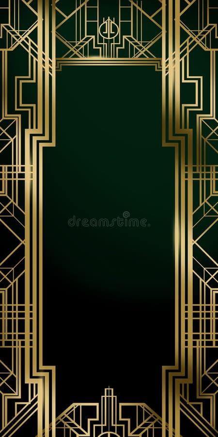 Большой плакат предпосылки фона фильма воодушевленности кино Gatsby бесплатная иллюстрация