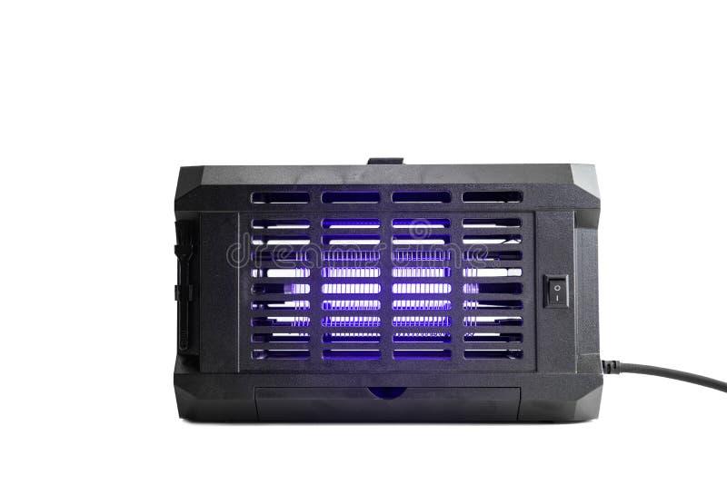 Большой прибор убийцы насекомого лампы ультрафиолетова с фиолетовым заревом дальше стоковая фотография rf