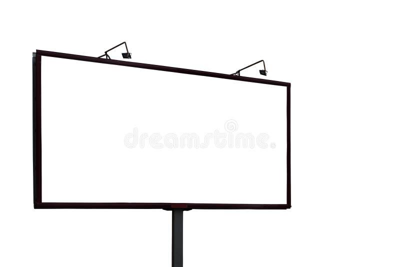Большой пустой модель-макет афиши изолированный на белой предпосылке стоковое фото rf
