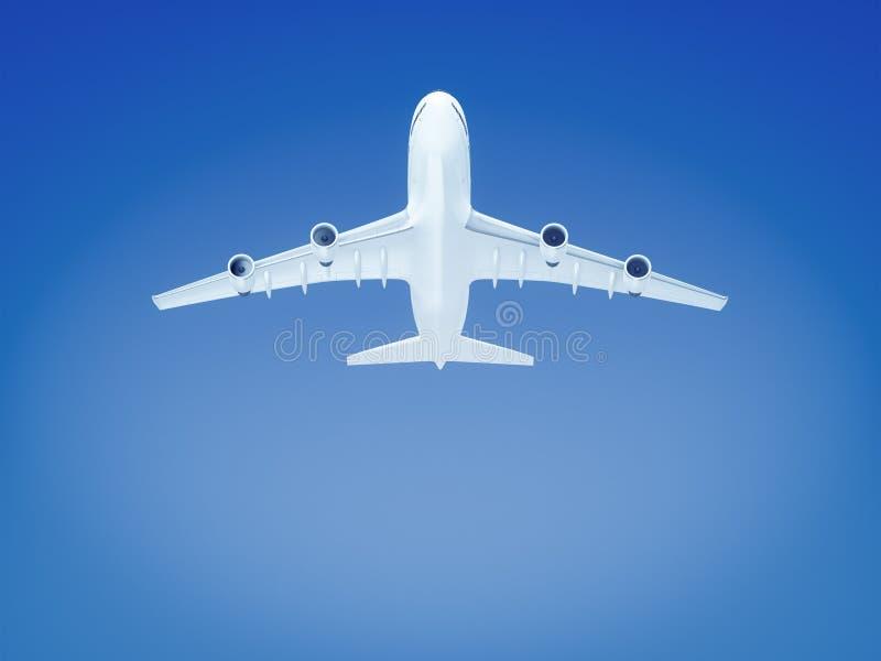 большой самолет в предпосылке голубого неба иллюстрация штока