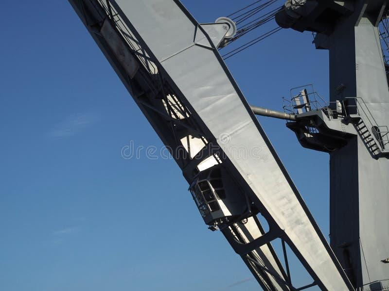 Большой серый кран гавани стоковые изображения