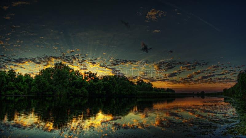 большой симфонизм восхода солнца стоковые изображения rf