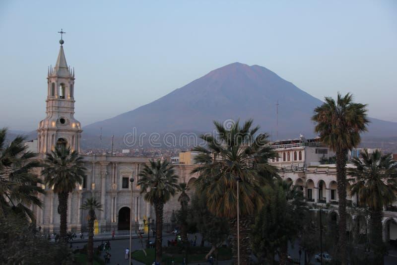 Большой собор Arequipa стоковые изображения