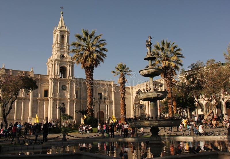 Большой собор Arequipa стоковое фото